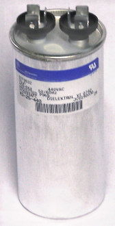 Run Capacitor Round 10 mfd 440 volt refrigeration air conditioning